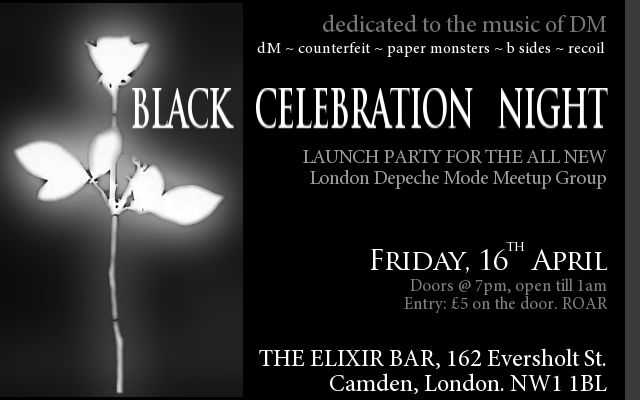 Black Celebration Night - The new monthly party for the Depeche Mode meetup