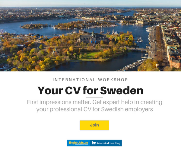 jobs in sweden for english speakers