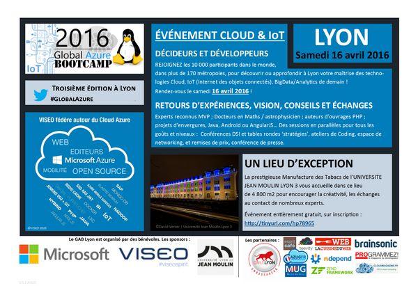 Global Azure Bootcamp 2016 Lyon, by AZUG FR, MUG-Lyon and VISEO