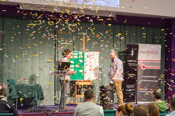 NorDevCon 2015 closing keynote audio-visial bonanza.