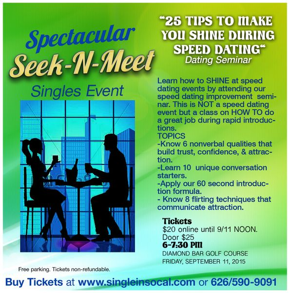 events speed dating grown tips