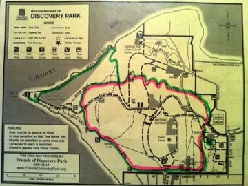 Discovery Park Trail Map on