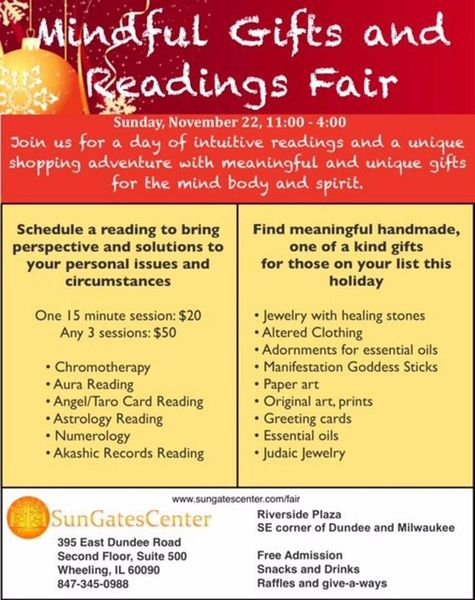 Mindful gifts and readings fair sungates wellness center wheeling