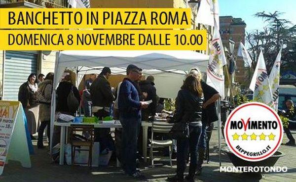 Incontro in piazza monterotondo 5 stelle grilli for Grilli arredamenti roma