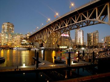 Granville island city lights and sunset vancouver for Vancouver parade of homes