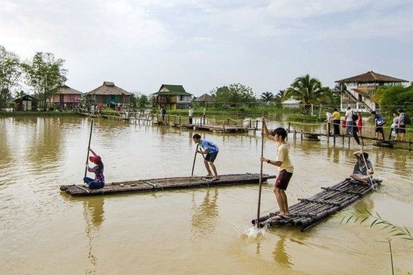 Water Challenge, Bamboo Rafting and be a Farmer in Rice Farm starting at Bekok Labis Johor Malaysia