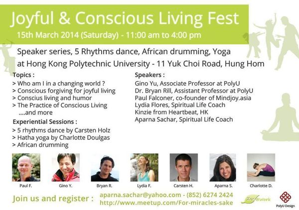 Joyful & Conscious Living Fest @ The Hong Kong Polytechnic University - PQ002