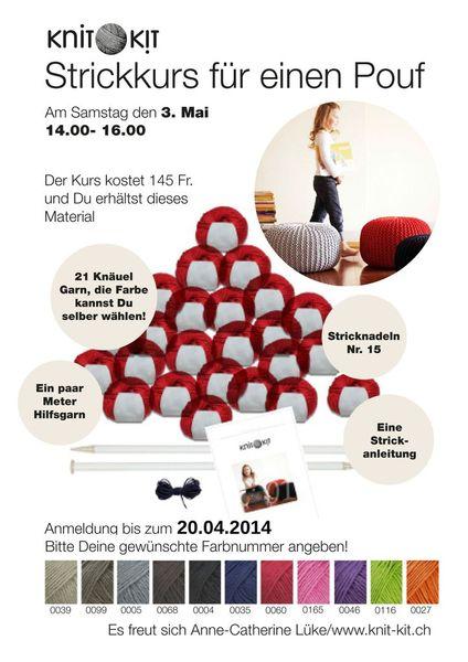 strickkurs pouf fällanden 3.mai 2014