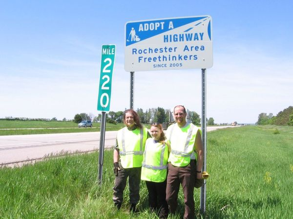 Cleaning our section of I90