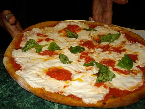 Pizza Margherita on whole wheat crust -- fantastic. — Vegan Long Island!