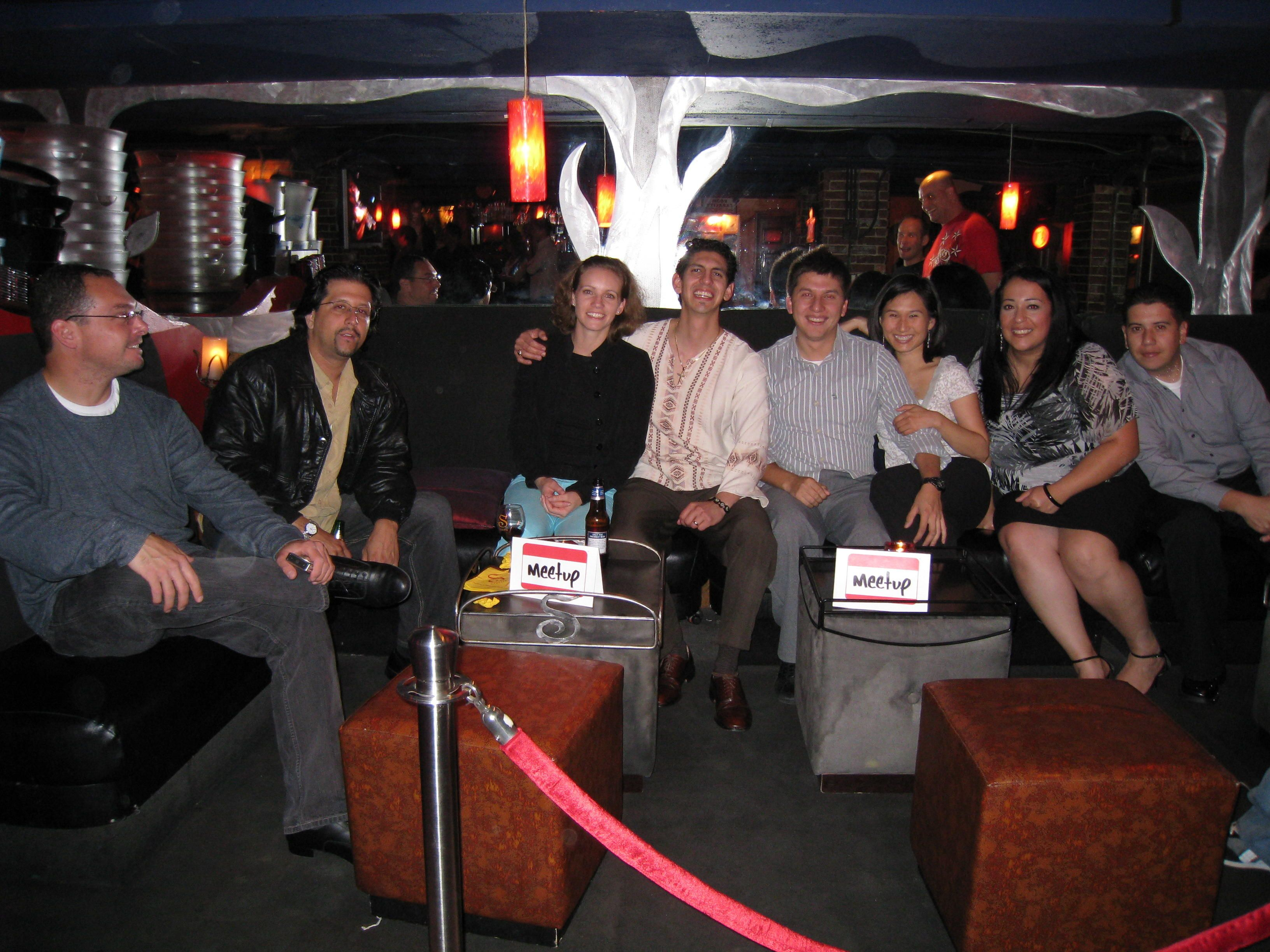 Last Month's Meetup.com Night VIP area