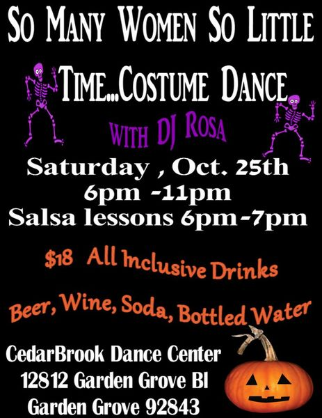 Oct 25 :: DJ Rosa Costume Dance